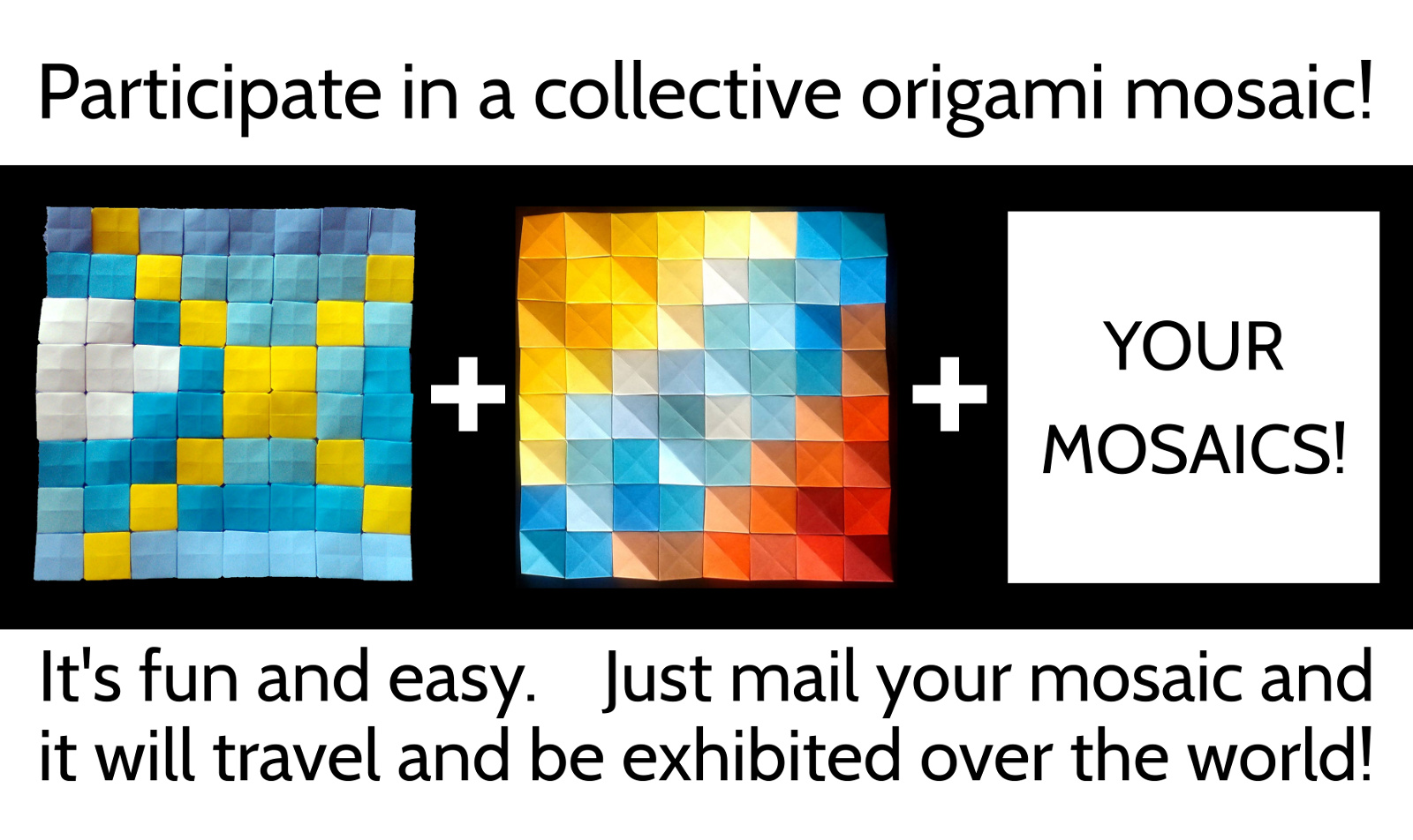Participate in a collective origami mosaic